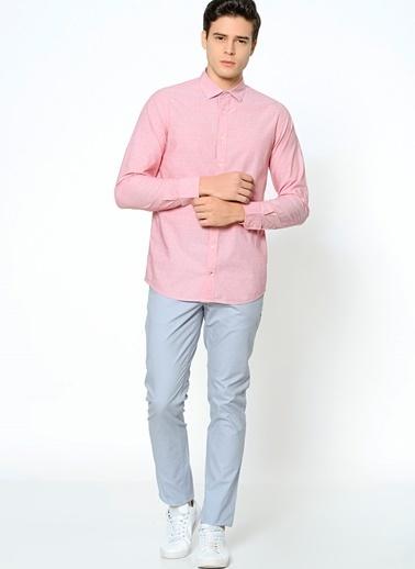 Tommy Hilfiger Uzun Kollu Slim Fit Gömlek Pembe